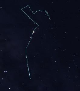 Chòm sao Thần Nông với đường nối tưởng tượng