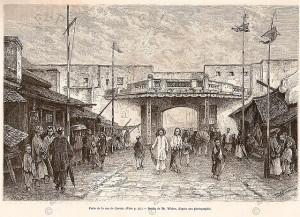 Cổng vào của phố Hàng Ngang, cuối thế kỉ 19.