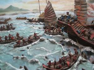 Tranh vẽ trận Bạch Đằng năm 938