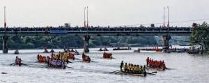 Đua thuyền ở Lệ Thủy