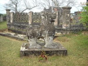 Sư tử đá trong thành Đồ Bàn