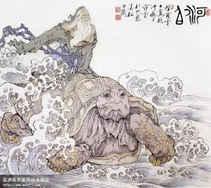 Một hình vẽ Hà Bá theo truyền thuyết