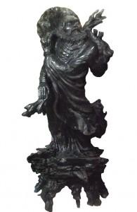 Tượng Bồ đề đạt ma điêu khắc từ gỗ mun sừng