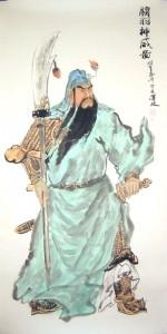 Hình tượng quen thuộc của Quan Công trong dân gian: mặt đỏ, râu dài, tay cầm cây thanh long yển nguyệt, có lúc cưỡi ngựa xích thố