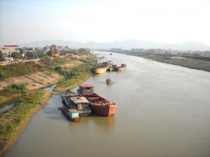 Sông Thương đoạn chảy qua thành phố Bắc Giang