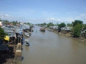 Kênh Vĩnh Tế đoạn chảy qua Châu Đốc, An Giang
