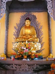 Tượng Phật A Di Đà trong một ngôi chùa tại Lấp Vò, Đồng Tháp