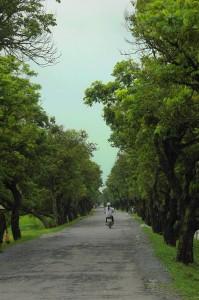 Đường vào xã Khả Phong