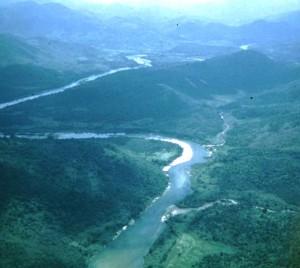 Sông Vệ nhìn từ trên không