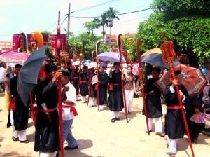 Lễ rước văn ở làng Ngái