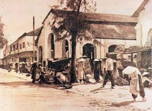 Chợ Đũi ngày xưa qua tranh kí họa