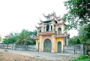 Tam quan chùa Lãng Đông