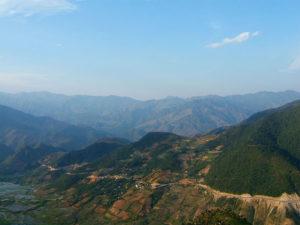 Đèo Khau Phạ trên tuyến Quốc lộ 32 đoạn qua Mù Cang Chải